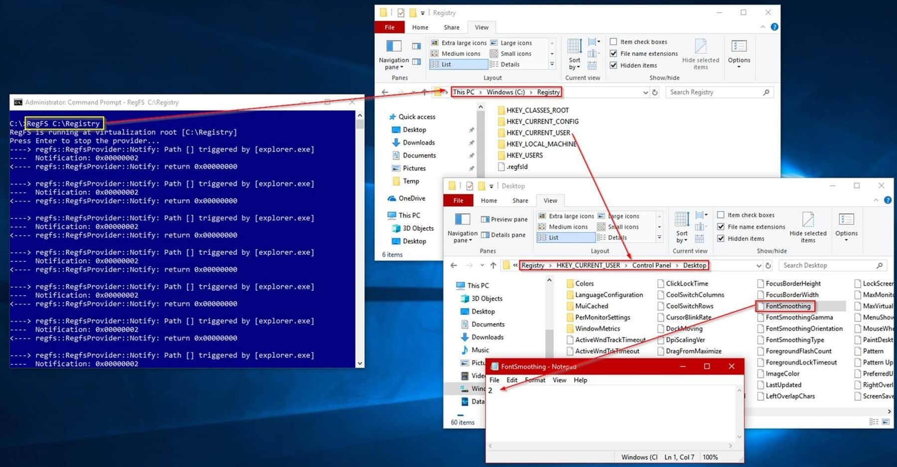 Windows Features & The Projected File System [Developer's Take