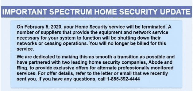 Charter Home Security shuts down its service 2