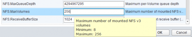 VMware NFS has reached the maximum number of supported volumes 3