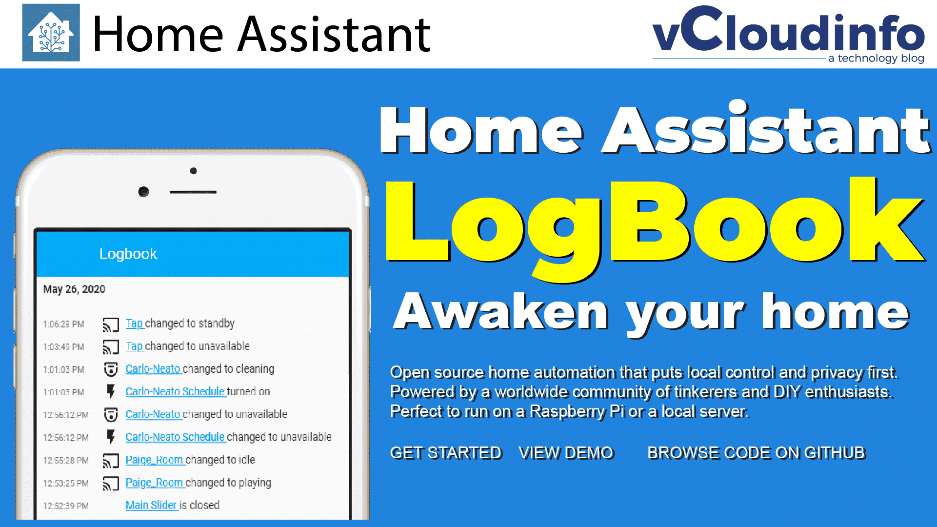 The Home Assistant Logbook 1