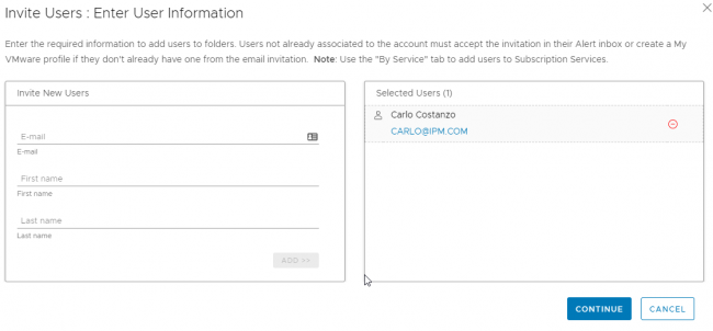 How to Delegate rights in the My VMware Portal 4