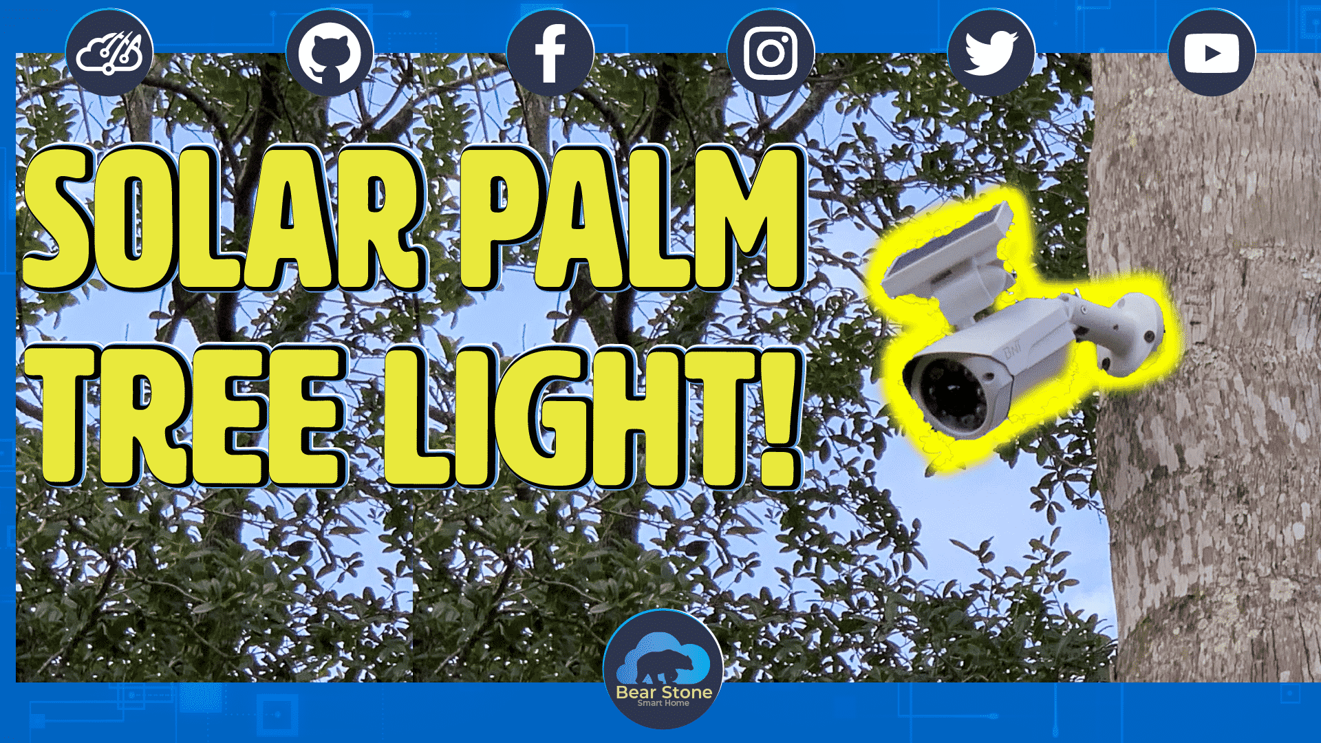 Solar Powered Motion Activated Palm Tree Lights! 1