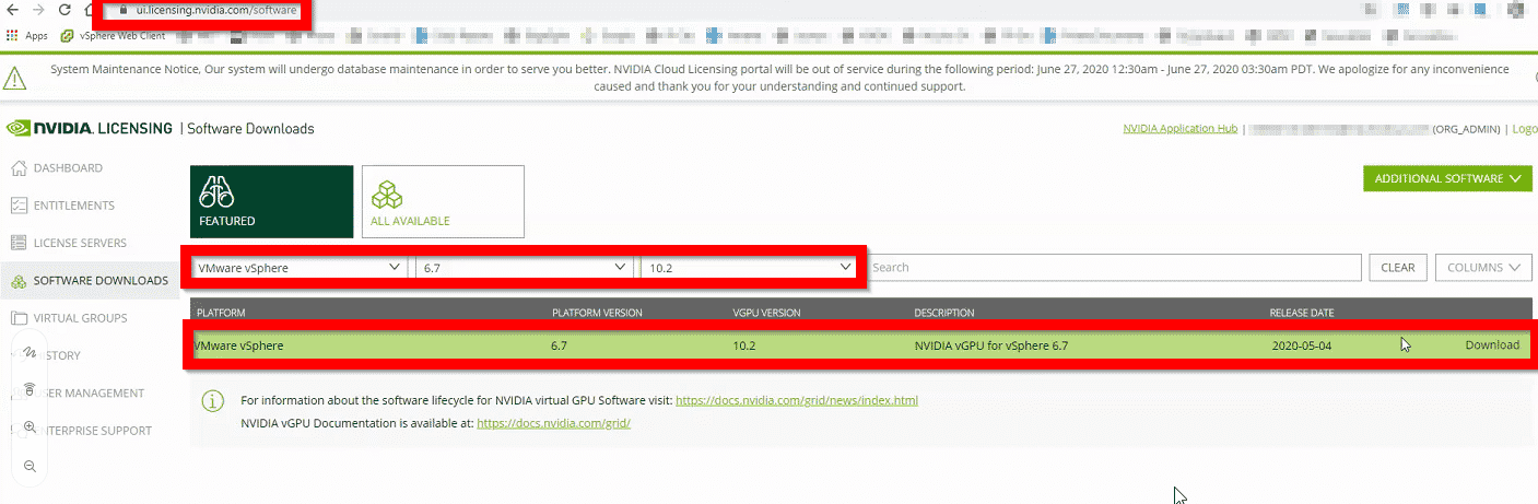 Updating and installing NVIDIA GPU drivers on VMware vSphere 4
