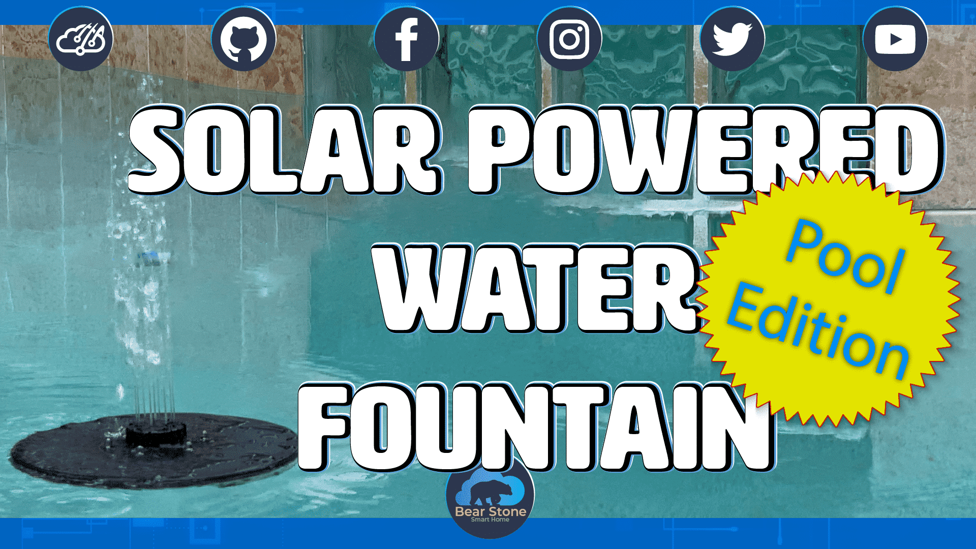 Solar Powered Water Fountain with LED lights 1