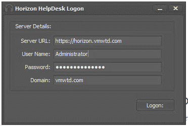 Using the VMware Help Desk Tool to Troubleshoot Horizon Sessions 13